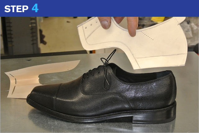 Step 4 - custom made shoes